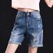甘肃哪里有时尚便宜韩版直筒休闲几元女士牛仔裤批发优质现货牛仔裤市场批发