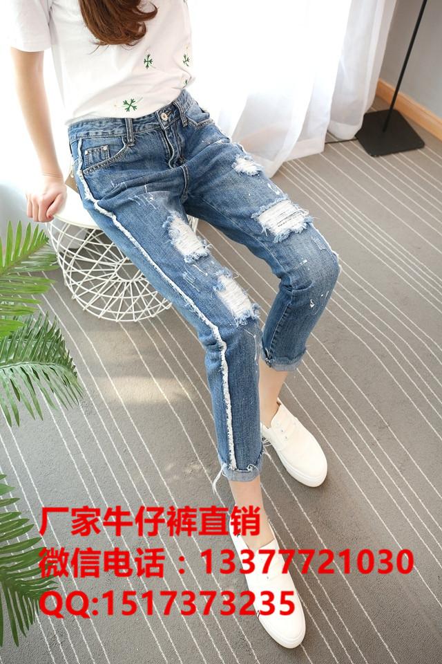 里巴巴批发卡通牛仔裤批发欧美时尚牛仔裤高腰显瘦牛仔裤时尚整款