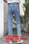 北京怀柔欧美女装牛仔裤时尚百搭牛仔裤2—10元批发破洞款宽松直筒牛仔裤外贸一手货源