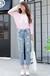 天津河东去哪批发杂款尾货厂家直销女式牛仔裤时尚中高档牛仔裤5元清仓批发七分牛仔裤