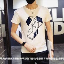 厂家直销几块钱短袖韩版夏季时尚男装尾货欧美男士T恤批发