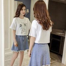 服装店纯棉女装T恤杭州四季青摆地摊半袖衫哪里低价半截袖批发