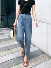 广州牛仔裤批发厂家直销女装全国摆摊时尚牛仔裤批发图片