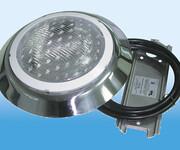 LED圆形水底灯不锈钢游泳池挂壁灯明装水底壁灯水下景观防水射灯济南溢乐美泳池设备图片