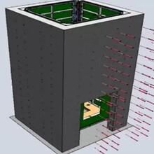 电梯井模板支模_电梯井模板厂家价格_方圆电梯井整体浇筑图片
