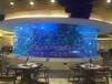 河北魚缸廠家生產承接大型亞克力圓形魚缸工程生態景觀水族箱