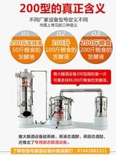 雅大酿酒的设备——200型白酒设备适用范围图片