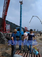 400米125KW大流量井用热水深井泵厂家-天津潜成泵业图片
