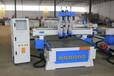 模压吸塑门板三工序雕刻机双工位全自动覆膜机整套门设备
