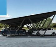 湖南江永怀能光伏车棚系统太阳能发电车棚系统光伏停车场电动汽车充电图片