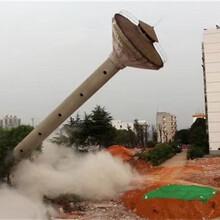 靜海50米混凝土煙囪拆除公司技術指導圖片