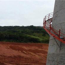 临汾烟囱防护爬梯制作安装公司施工队伍图片