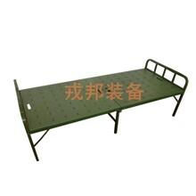 野战军绿色行军床钢质便携式折叠床户外野营训练二折床陪护午休床