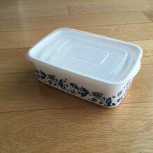 长方形青花瓷塑料保鲜盒