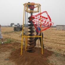 手提挖坑机拖拉机植树挖坑机便携式植树挖坑机图片