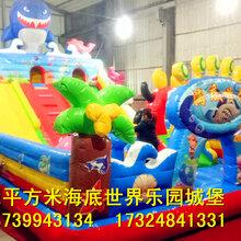 郑州荥阳72平方米海底世界儿童充气城堡游乐设备充气蹦床价格低图片
