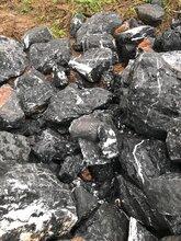 孝感天然黑石头野山石