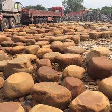 华阴市自然石平面石批发黄蜡石