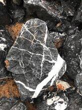 草坪枯山水點綴石天然黑山石