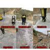 挖机挖不动的石头怎么办用劈裂机裂石棒操作工序