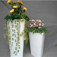 菱形艺术花盆配小太阳菊假花设计大型仿真花造型绿植场景布置