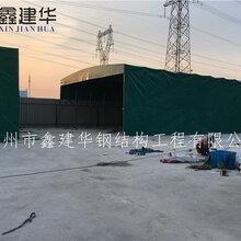 无锡惠山区户外推拉雨篷遮阳篷布工地临时仓库雨蓬施工棚图片图片