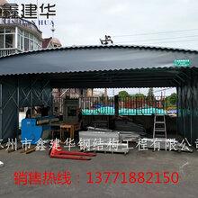 宁波订做活动雨蓬推拉雨棚甬江新区大排档雨棚大型仓库篷质量保证图片