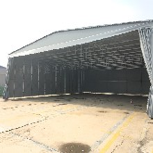 上海静安区活动雨棚定制_大型推拉帐篷稳定性强_户外挡雨蓬子图片