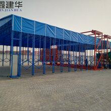杭州折叠电动雨棚安装方便,推拉雨棚厂家图片