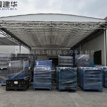 扬州物流电动雨棚报价,推拉雨棚厂家图片