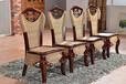 銘閣家具廠家批發7001餐桌椅組合藤藝藤木餐廳家具組合餐桌椅藤餐椅編制藤桌椅飯桌7001