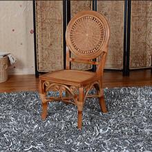 铭阁7002厂家批发藤编餐椅真藤木单人椅子藤餐厅家具藤餐椅图片