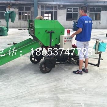 青贮打捆包膜机长期低价优质现货直销农作物秸秆保鲜自动化包膜机