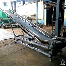 料场仓库爬坡沙石装卸输送机输送量大工作效能稳定布置灵活图片
