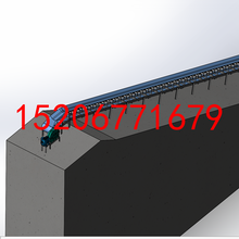 装卸车用皮带运输机大倾角裙边格挡式皮带机江门厂家直销图片