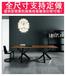 实木创意复古餐桌美式乡村铁艺餐桌椅客厅茶几桌茶桌办公桌会议桌雅乐居时尚铁艺家居馆