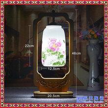 景德镇新中式台灯创意卧室床头书桌灯护眼实木陶瓷台灯厂家图片