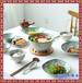 日式一人食陶瓷餐具碗碟5件套装家用酒店摆台单人碗盘碟子勺组合