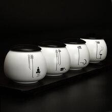 陶瓷茶叶罐子厂家茶叶罐批发定制logo批发普洱茶密封罐图片