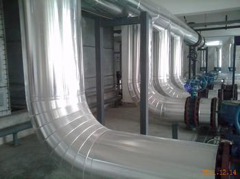 佛山设备管道岩棉铝皮保温安装。