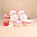 创意骨瓷餐具套装情侣陶瓷碗盘勺碟套装定制LOGO餐具批发