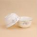 厂家直销陶瓷4.5寸饭碗骨瓷家用米饭碗白金玫瑰画面