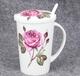 骨瓷杯陶瓷带盖水杯家用奶杯骨瓷带勺咖啡杯马克杯定制