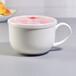 唐山奥美批发陶瓷杯子家用骨质瓷泡面碗大号早餐杯