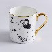 奥美瓷业厂家批发陶瓷杯子定制骨质瓷礼品杯?#29992;?#37329;马克杯