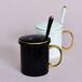 亿美骨瓷批发陶瓷杯子创意骨质瓷C把杯带盖