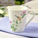 厂家批发骨质瓷马克杯V形陶瓷水杯定制广告杯子