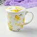 唐山奥美厂家批发陶瓷杯子骨质瓷带盖水杯