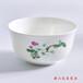 达美瓷业批发陶瓷4.5寸饭碗骨瓷家用米饭碗白金玫瑰画面