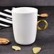 唐山瓷亿美批发陶瓷水杯包金把骨瓷马克杯创意情侣对杯办公礼品广告杯定制